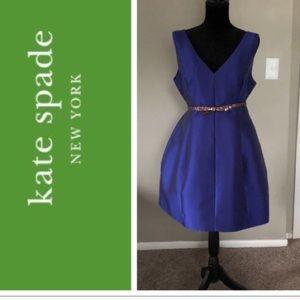 New Kate Spade Silk Royal Blue Dress 10 $345